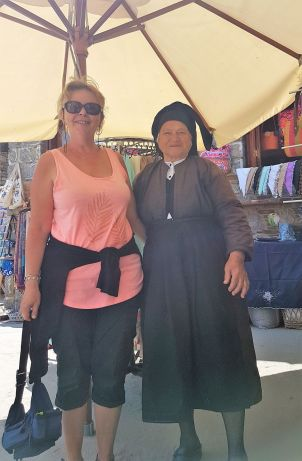 Avec Maria, à Olympos.