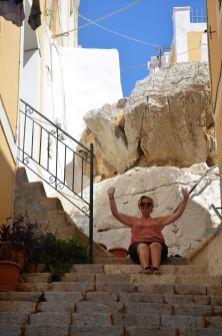 Championne du Monde de la montée d'escaliers.