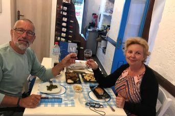 Restaurant le Giaeli, deux touristes enchantés.