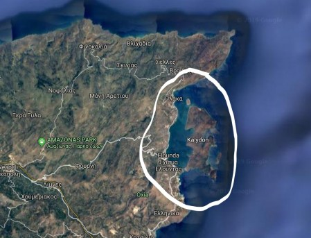La baie de Spinalonga.