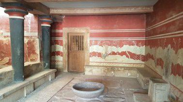 Knosso, la salle du trône.
