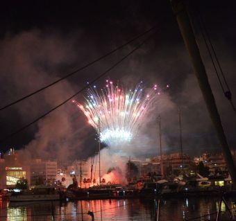 Fête de célébration de l'Olympiakos champion de Grèce Athènes 2020