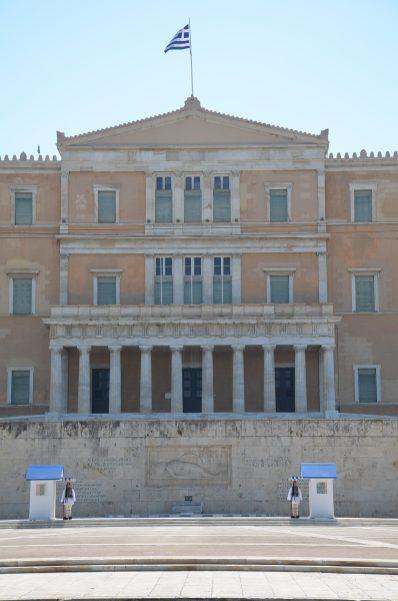 Relève de la garde devant le parlement, place Syntagma Athènes 2020