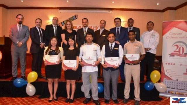 Al Bustan Centre and Residence recognizes employees' outstanding performance