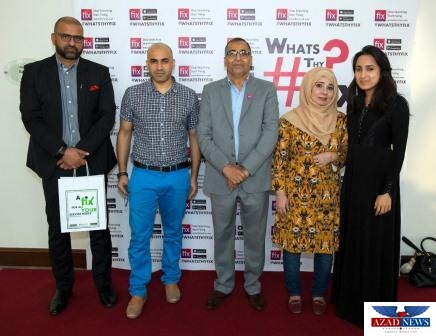Iman Bari (Manager Sales and Projects at Easy Clocking), Ali Ghalib (Managing Partner HATS UAE), Ghalib Ali Ansari (Managing Director Ansari Group of Companies), Salma Abbas (Azad News) and Sara Nadia Mastan Marican (Legal Councel at DP World) from left to right.
