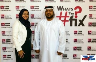 Erum Fatima Rizvi (Co-Founder Fixonclick) and Aziz Al Baloshi ( PR Executive HH Sheikh Seikh Saif Al Nahyan) from left to right