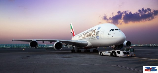 Emirates A380 returns to Houston