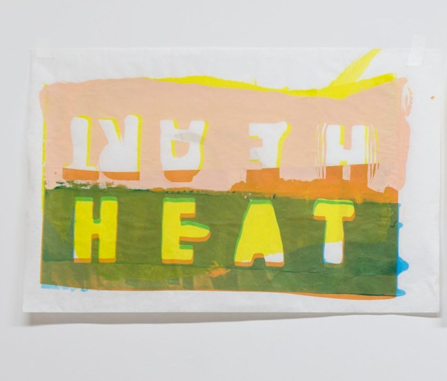HEAT HEART 2013 Screenprint on kozo paper 24 x 14 inches