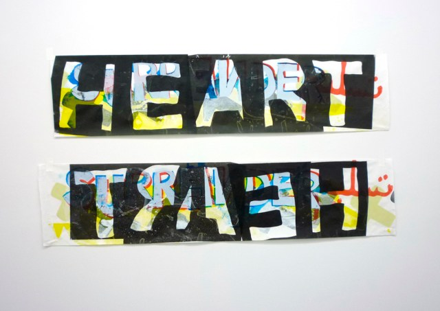 BLACK HEARTS 2014 Screenprints on kozo paper 40 x 21 inches