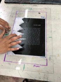 arranging paper plates