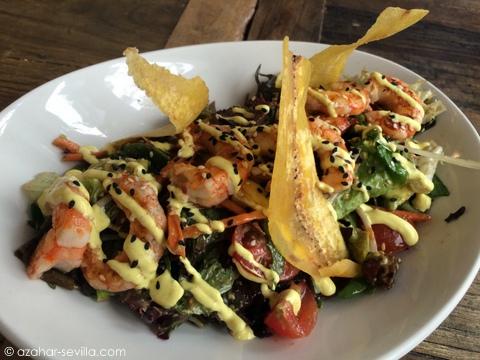 gallinera sandra prawn salad