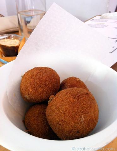 la chunga seta and truffle croquetas