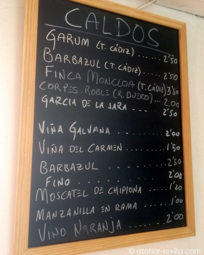 la almadraba wine list
