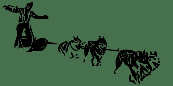 silhouette chien de traineau