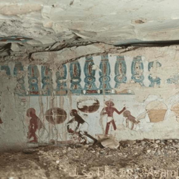 اكتشاف جدارية فرعونية2