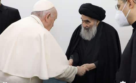 السيستاني مع البابا فرانسيس