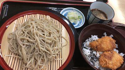 岩手のお蕎麦&白身魚のフライ丼