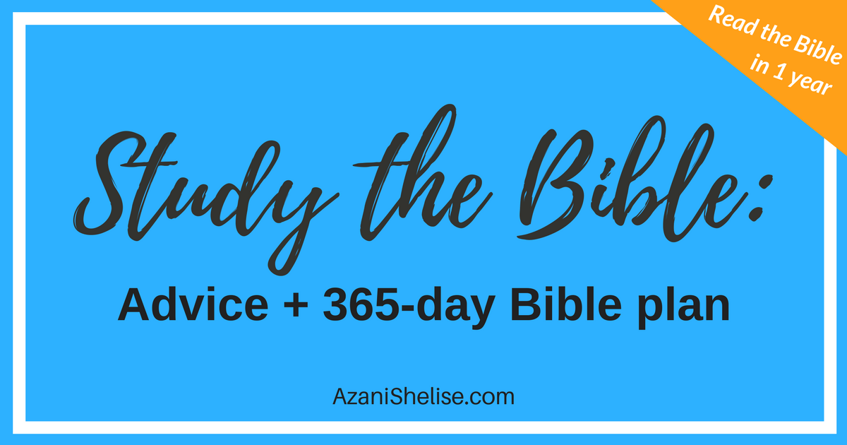 Bible study tips and plan 2018
