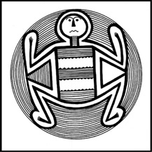 Mimbres Style II Black on white bowl, Saige-McFarland site, upper Gila River, New Mexico