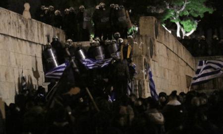 Հունական խորհրդարանի մոտ բողոքի ակցիայի ժամանակ 130 մարդ է ձերբակալվել