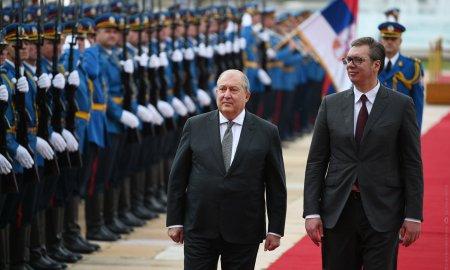 Սերբիայի պալատում տեղի է ունեցել ՀՀ նախագահի դիմավորման պաշտոնական արարողությունը