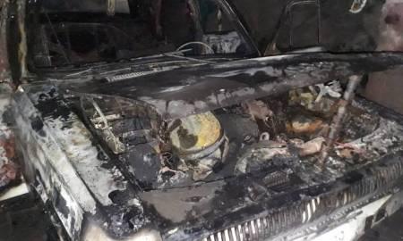 Ուջանում ավտոմեքենա է այրվել