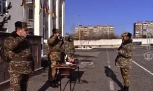 Կին զինծառայողների մասնակցությամբ անցկացվել է զինվորական երդման արարողություն