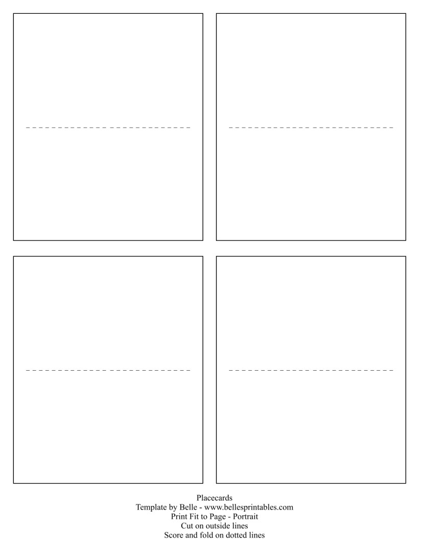 Placecard Template
