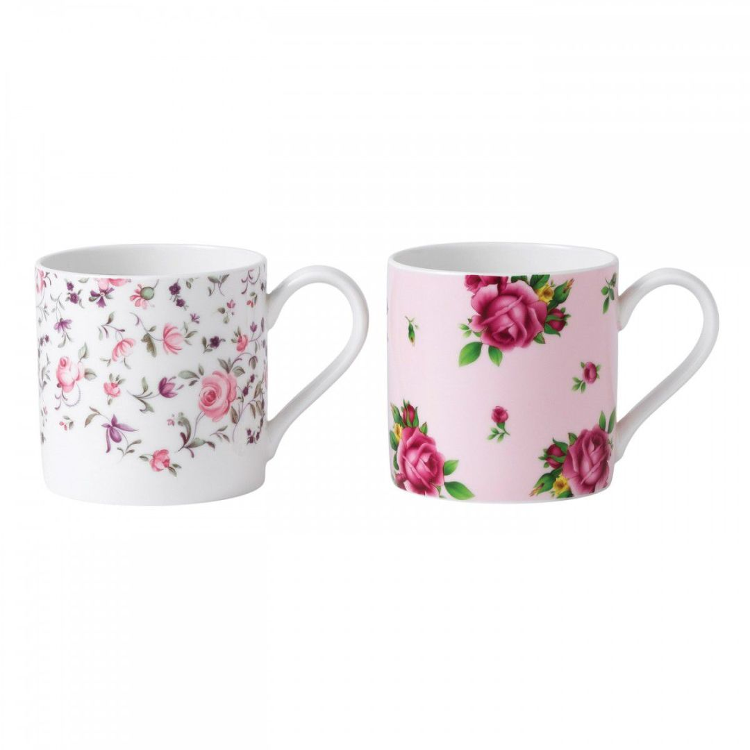 Set 2 cani Rose Confetti/New Country Roses Pink