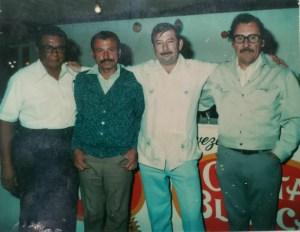1 Juan Moreno, 2 Daniel Rodríguez Pesqueira 3 Güero Cruz, 4 Pepe Gallardo V.