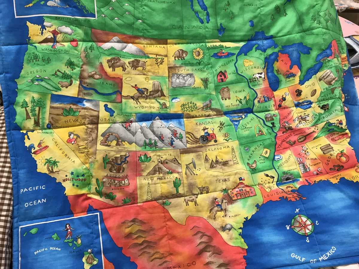 Carol Pettis map quilt