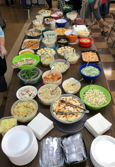 A delicious potluck salad lunch was provided by our friends at Weavers Needle. Yum!