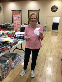 Peg W, one of our hostesses with the mostesses, wins a gift card to Quilter's Oasis.