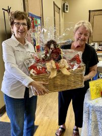 Barbara Thum with her bountiful basket