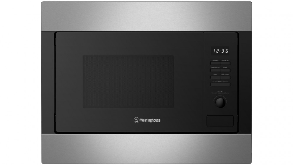 westinghouse 25l stainless steel built in microwave