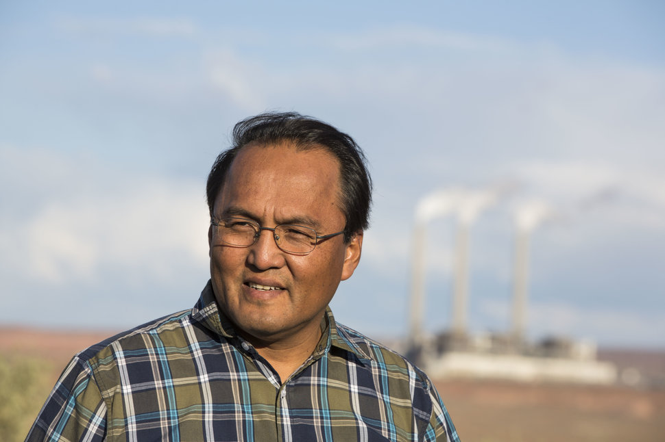 Erwin Marks is facing the prospect of yet another relocation if and when Navajo Generating Station closes down. (Photo by Nick Oza)