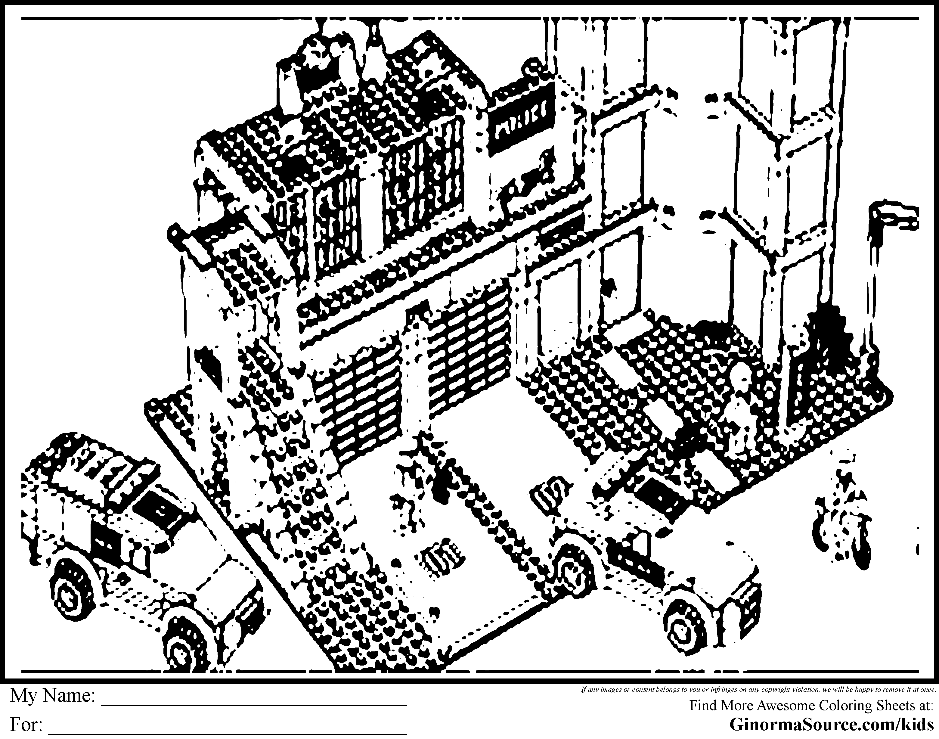 Coloring Page Lego City