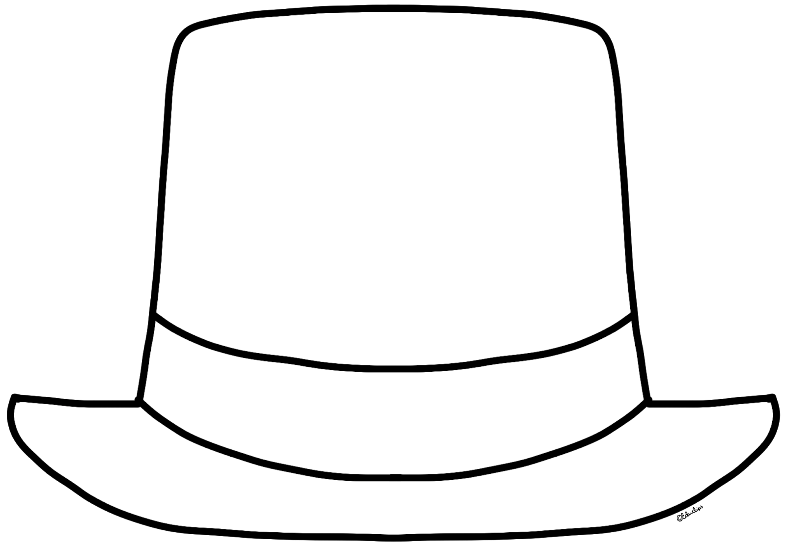 Top Hat Coloring Page