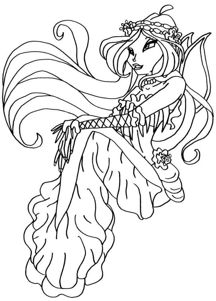 Winx Club Pixies Coloring Pages Coloring Home