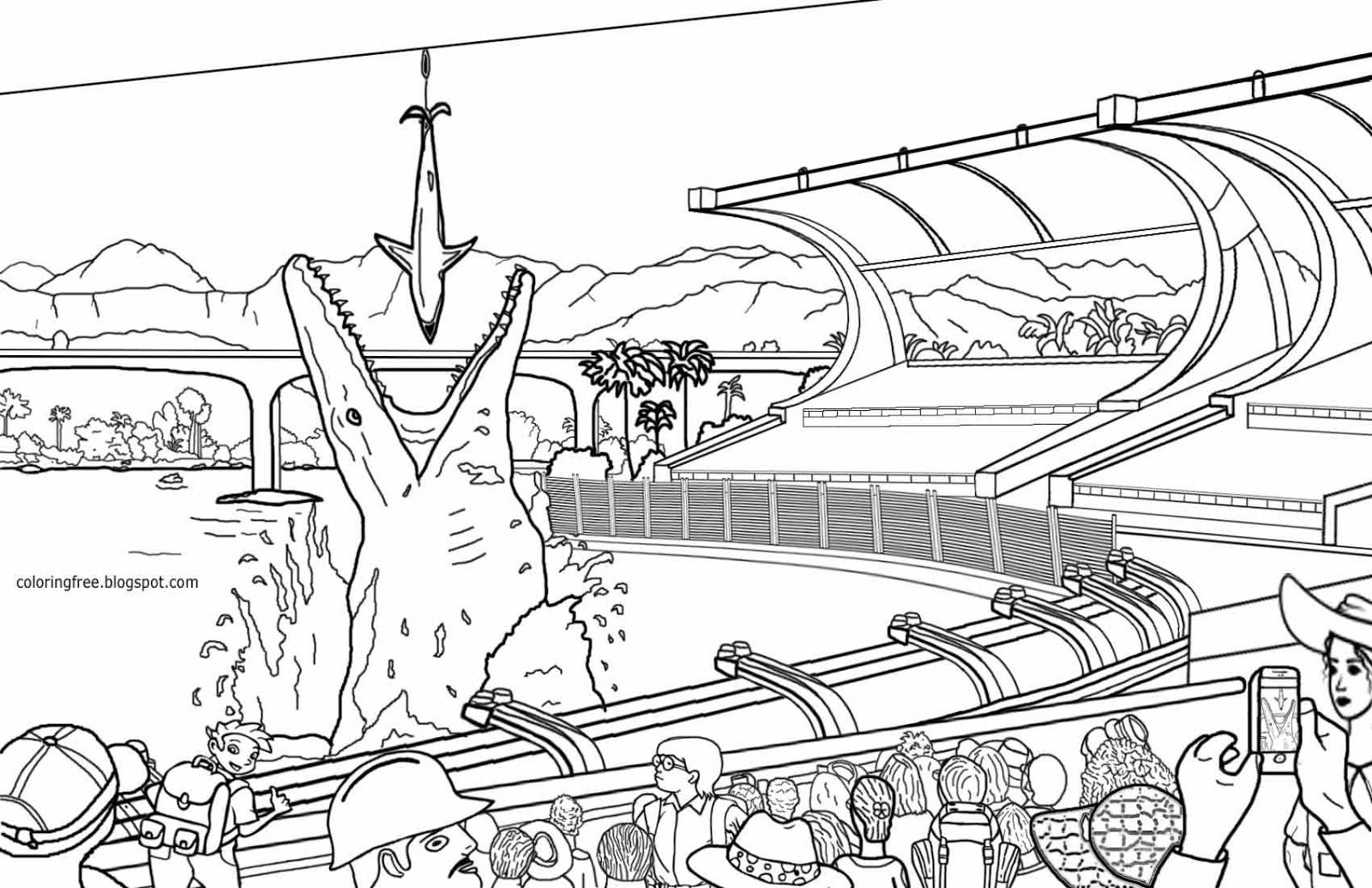Disney World Coloring Pages Print