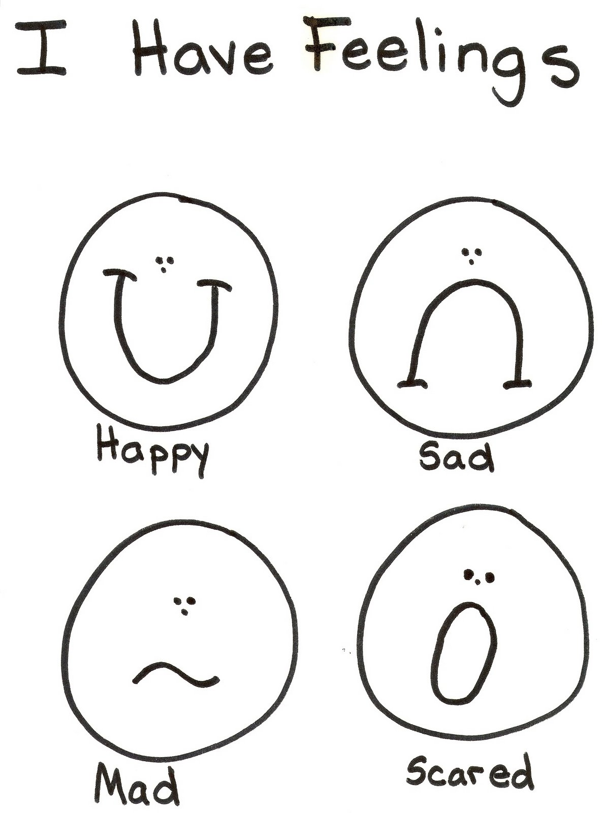 Emotions Coloring Pages
