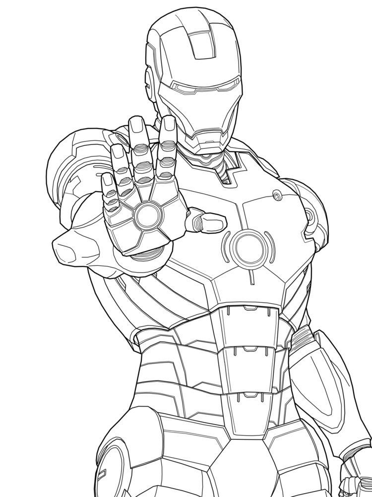 Iron Man Images For Kids Coloring Home
