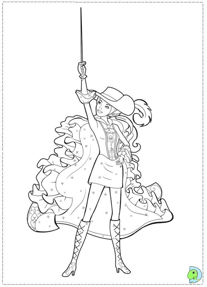 Barbie 3 Musketeers Coloring Pages Coloring Home