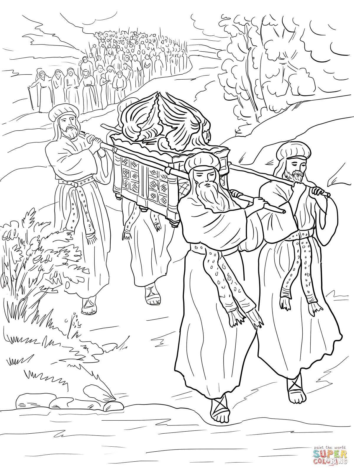 Road to emmaus coloring pages