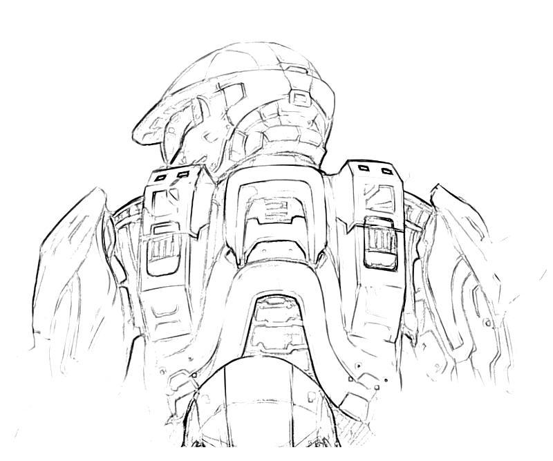 Halo 3 Odst Coloring Pages Coloring Home