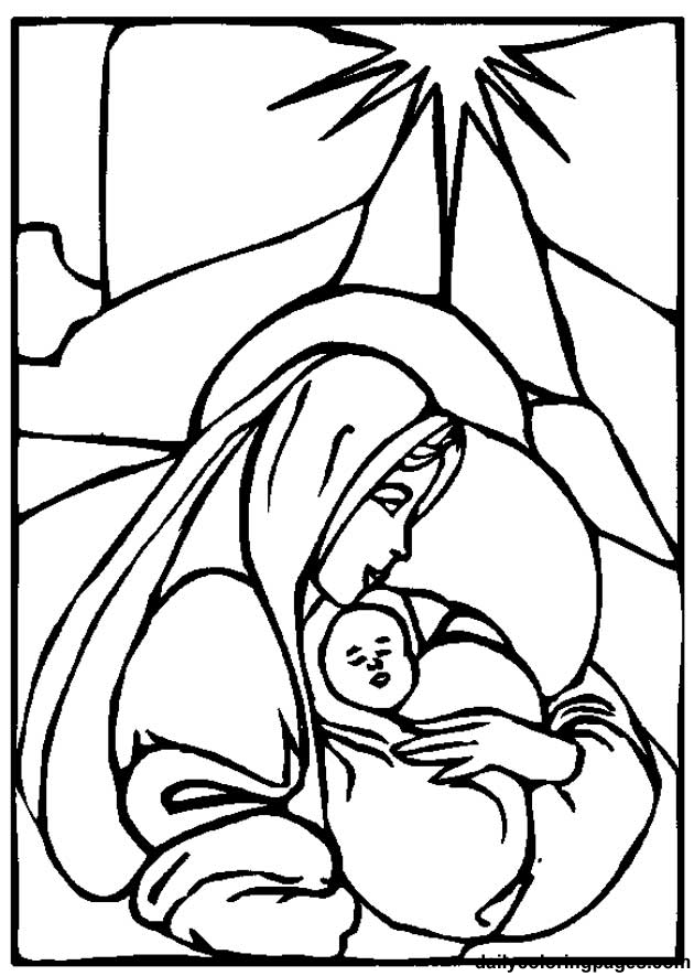 Mother Mary Coloring Pages Coloring Home