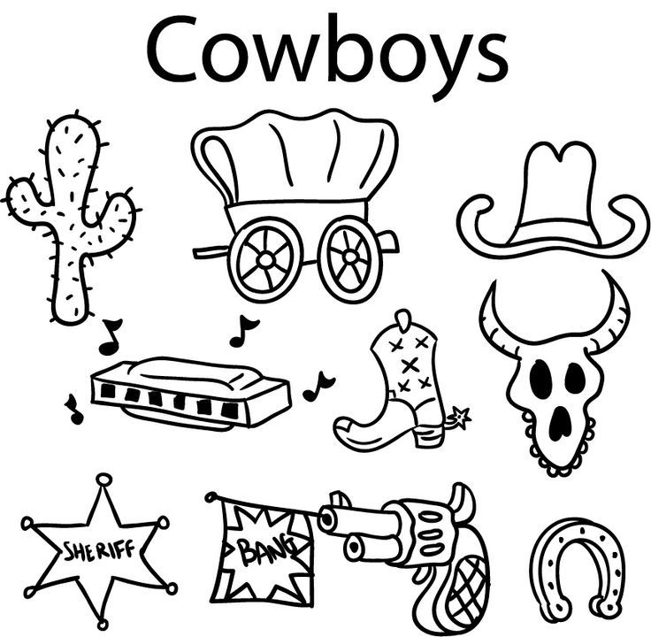 Wild West Activities For Kids Coloring Home