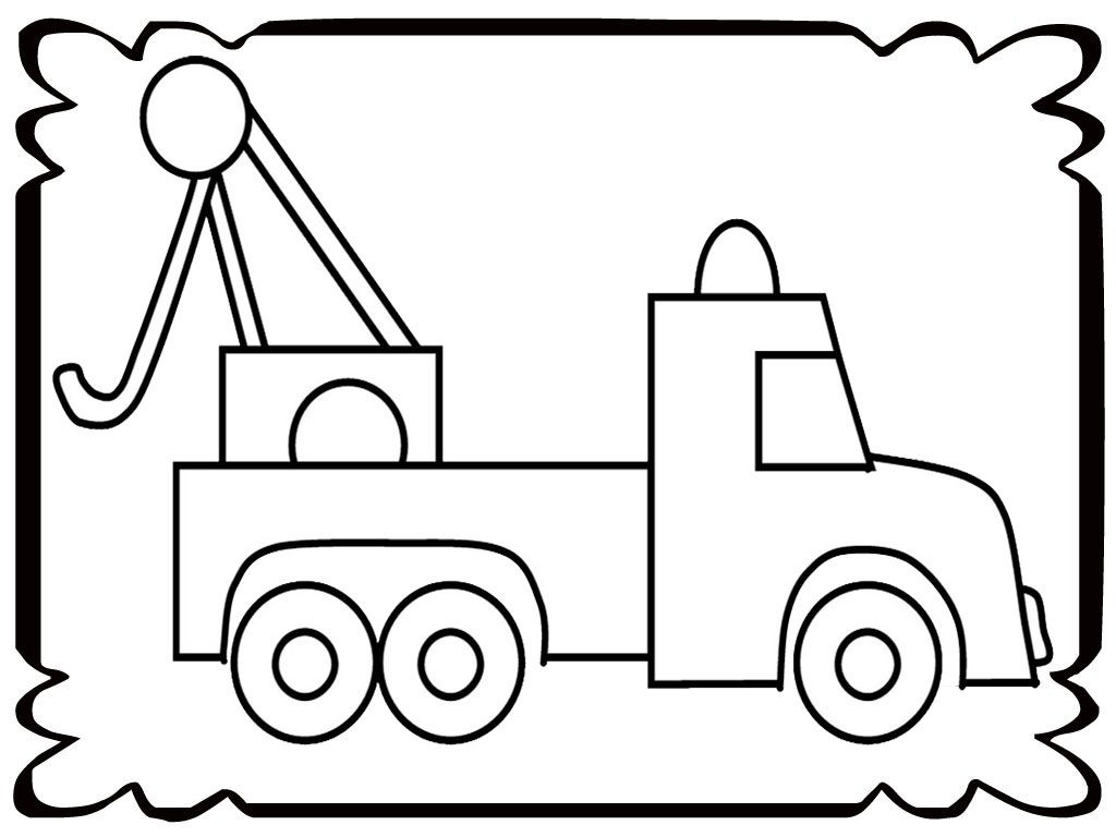 Tow Trucks Coloring Pages