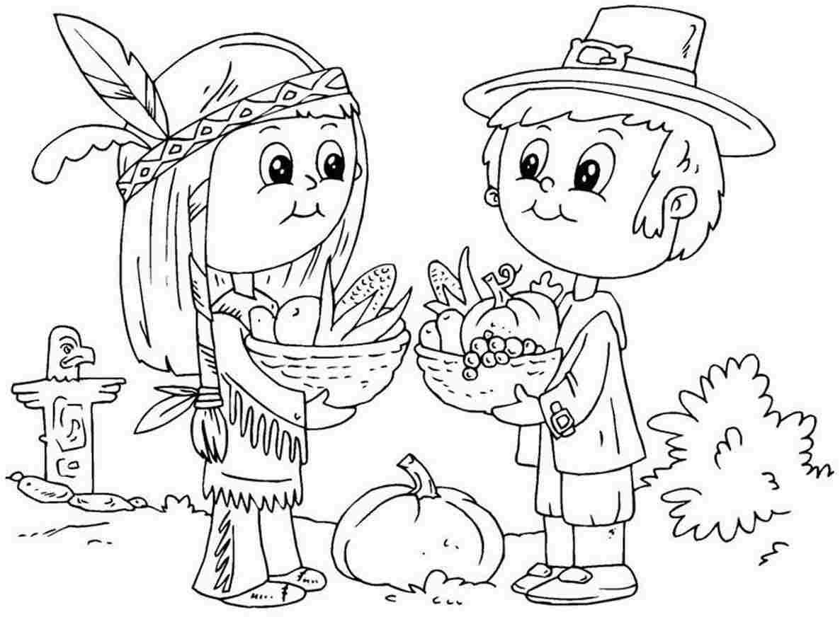 Coloring Pages Thanksgiving Coloring Pages Free And