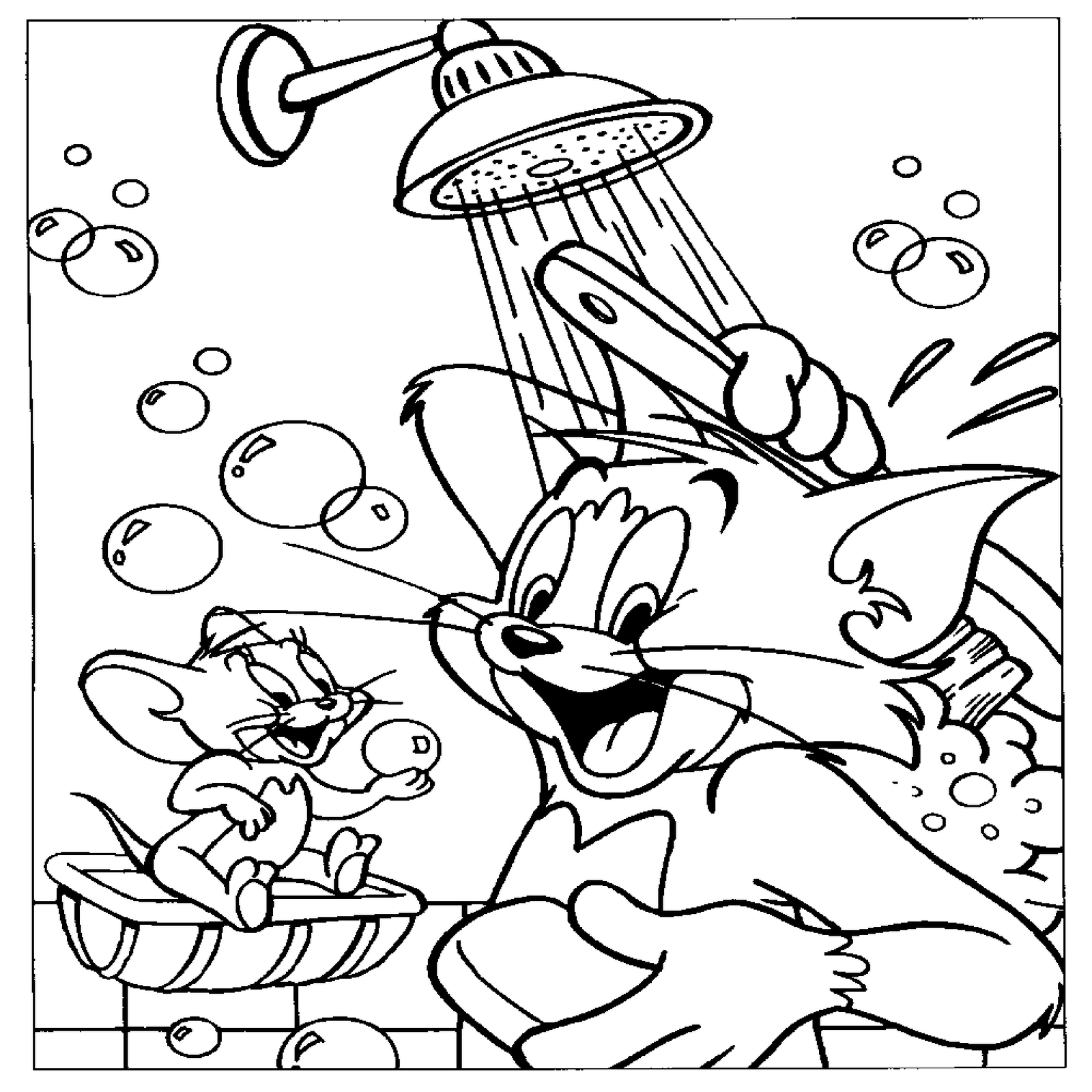 Tom And Jerry Spike Coloring Pages